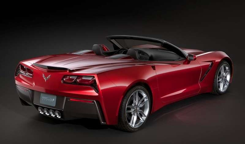 NewChevrolet Corvette Convertible side-rear view_no_copyright