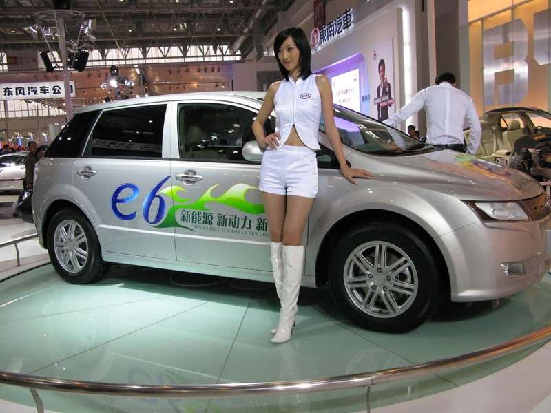 nocopyright BYD e6. electric car EVelectric vehicles