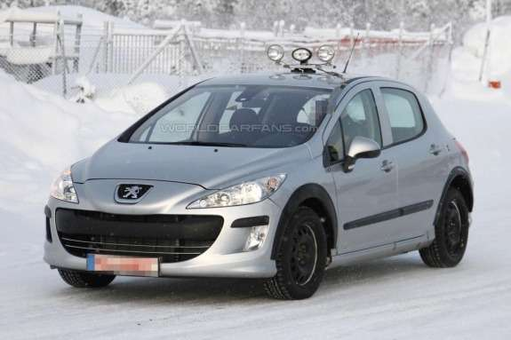 Peugeot 301 test-mule side-front view