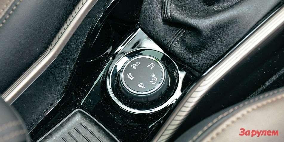 Система Grip Control сшайбой выбора режимов движения знакома подругим моделям «Пежо-Ситроен». Например, погрузопассажирскому «Пежо-Партнер».