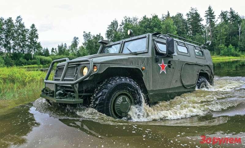 В 2007-м, после старта серийного производства наАрзамасском машиностроительном заводе, «Тигр» ГАЗ-233014 принят наслужбу вВСРоссии.