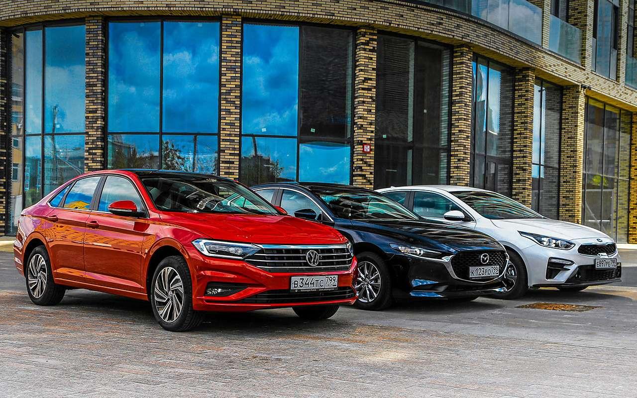 VWJetta, Kia Cerato, Mazda 3— тест-сравнение— фото 1156425