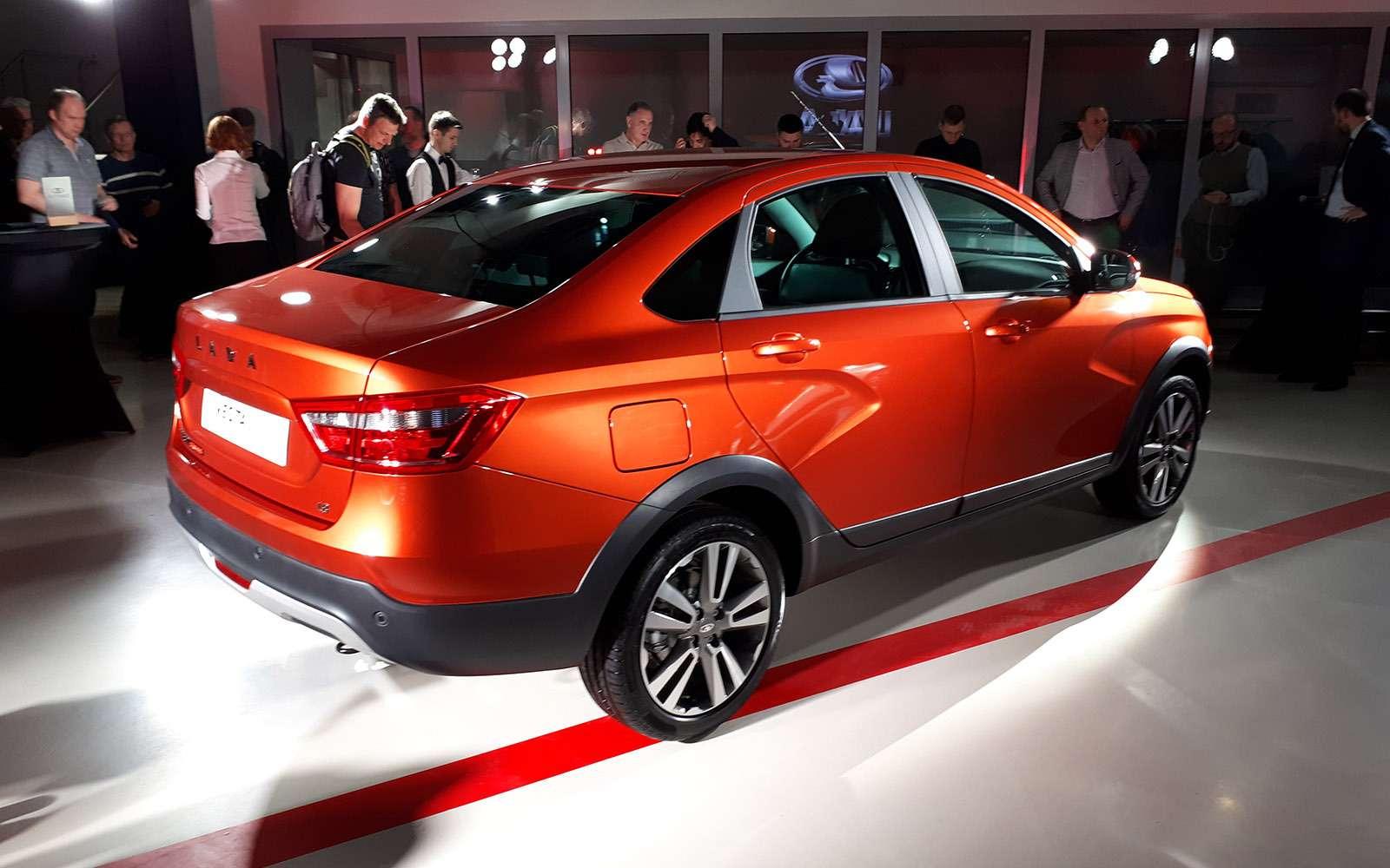 Седан Lada Vesta Cross: производство началось. Когда его ждать впродаже?— фото 863340