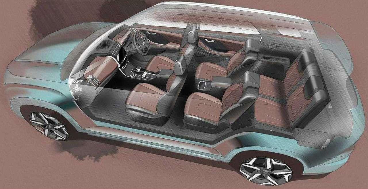 Hyundai Alcazar— новый 7-местный кроссовер— фото 1233315