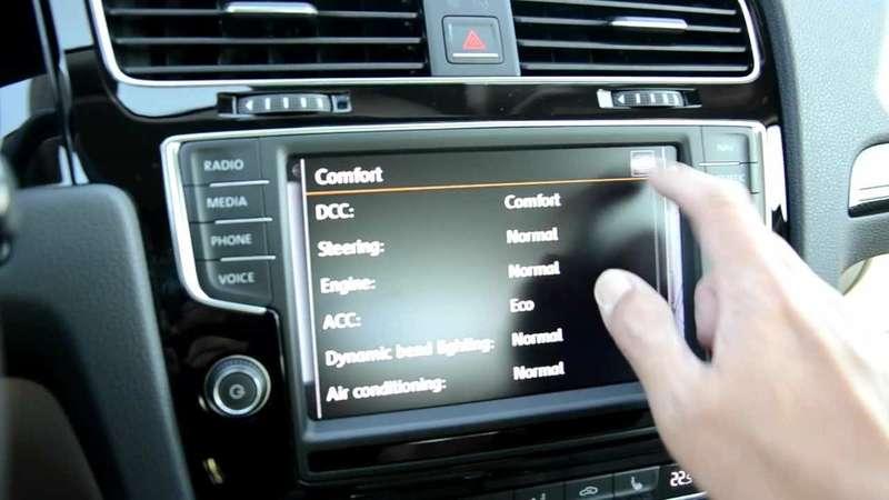 Сенсорный экран наVolkswagen Golf Mk7