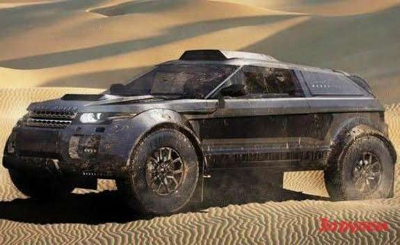 Excite Rally Raid Team Range Rover Evoque Dakar race vehicle 2