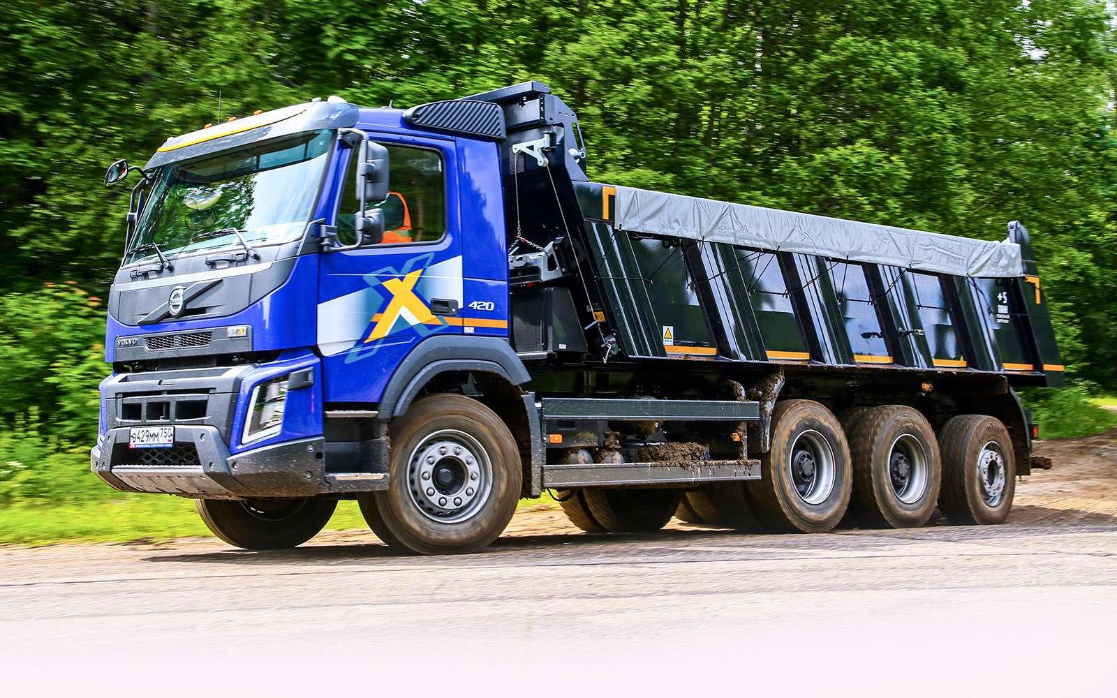 Самосвалы Volvo дляРоссии: без перегрузок наосях— фото 695654