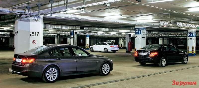 Mercedes-Benz С220CDI, BMW 320d, Аudi A4Quattro 2.0FSI