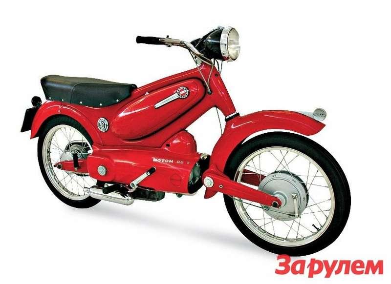 Итальянский Motom T98 1955 года с«закапсулированным» 100-кубовым четырехтактным мотором.