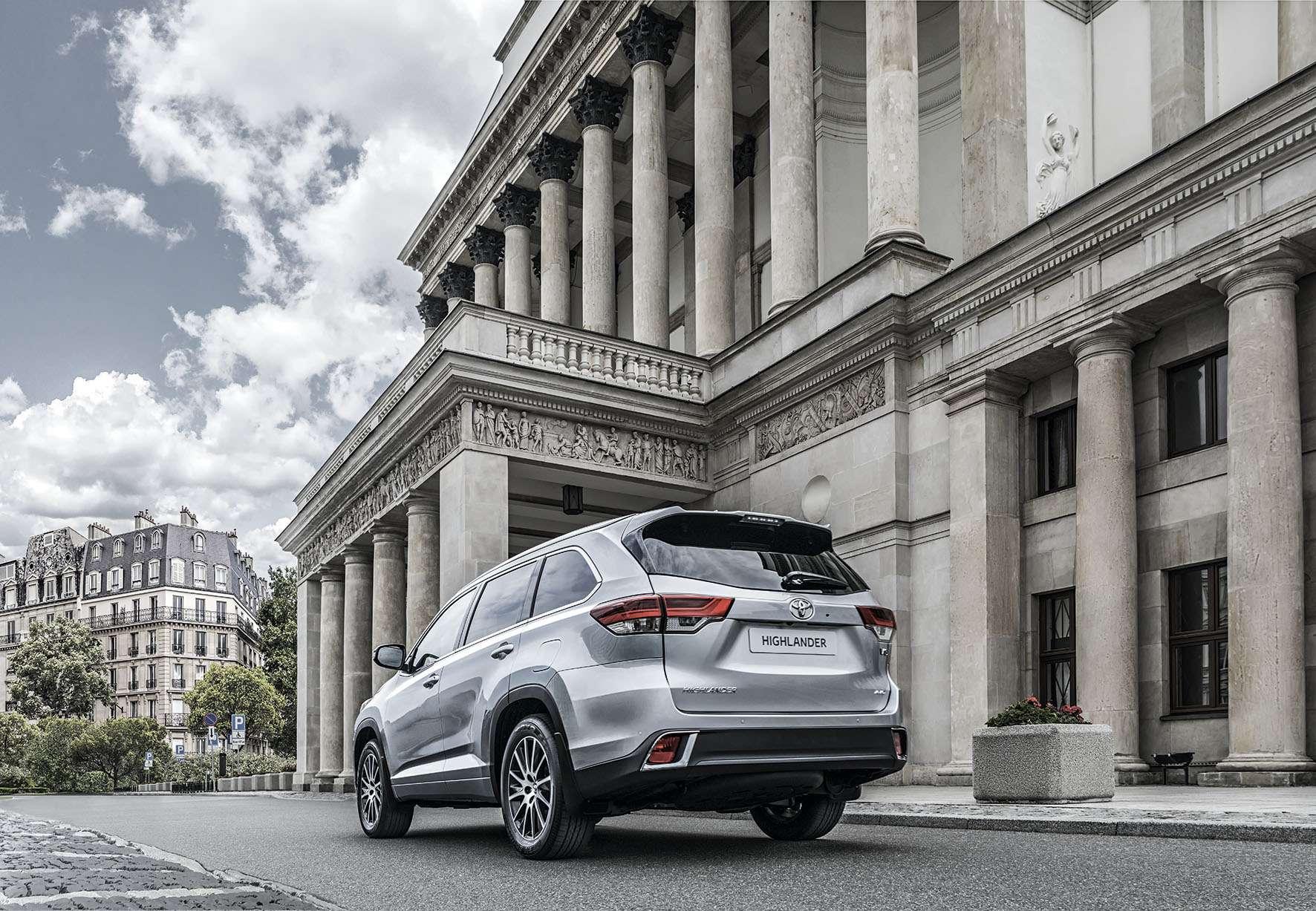 Обновленный Toyota Highlander: названы рублевые цены— фото 691866