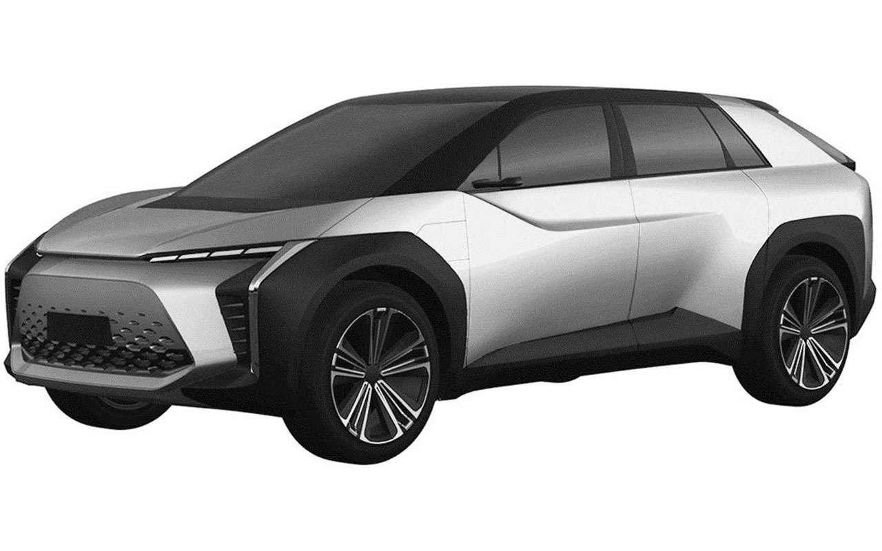 Новый Toyota BZ— патентные изображения— фото 1209425