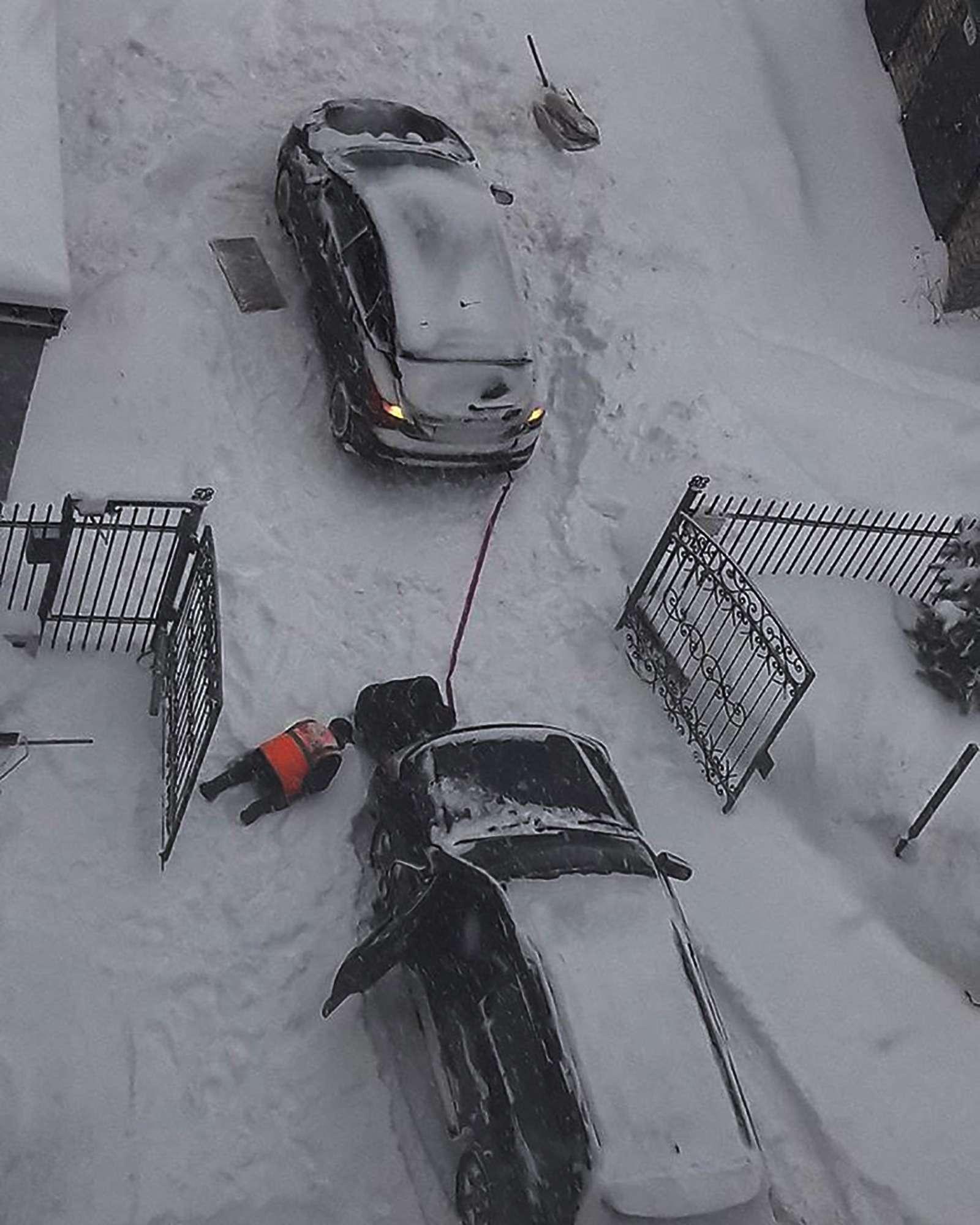 «Снегопад века»: как вМоскве пережили первый катаклизм года— фото 842105