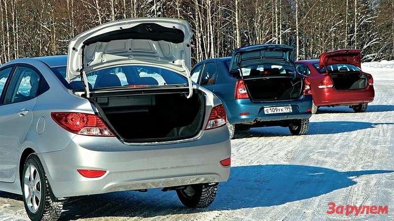 Renault Logan, Hyundai Solaris, Volkswagen Polo Sedan