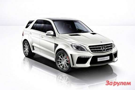 Mercedes-Benz ML63AMG byTopCar side-front view