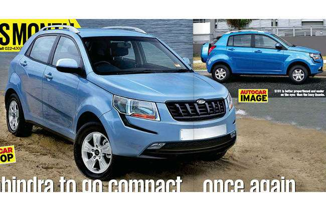no copyright Mahindra Compact SUV jointly developed with SsangYong rendered