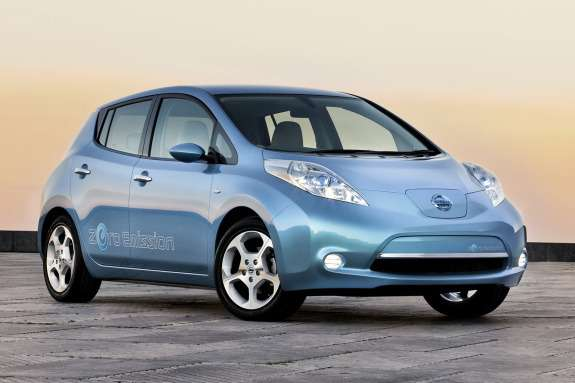 Nissan Leaf side-front view