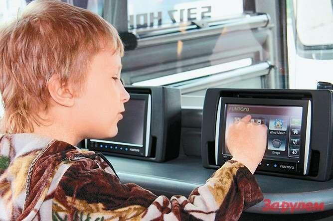Каждый пассажир может выбрать  интересную ему программу или канал