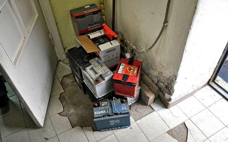 старые аккумуляторы