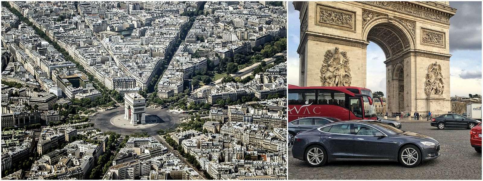 Площадь Звезды, Париж, Франция.