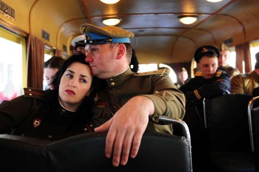 Послевоенный троллейбус. Историческая реконструкция. Снимок помещен поадресу: http://megan-swing.livejournal.com