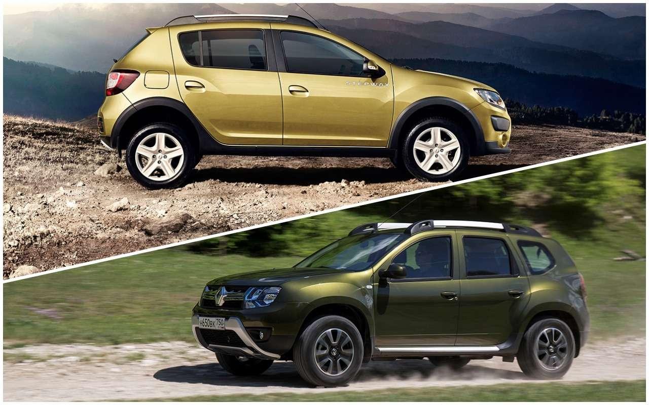«Нафаршированный» Renault Sandero Stepway или «пустой» Duster: что выбрать?— фото 890420