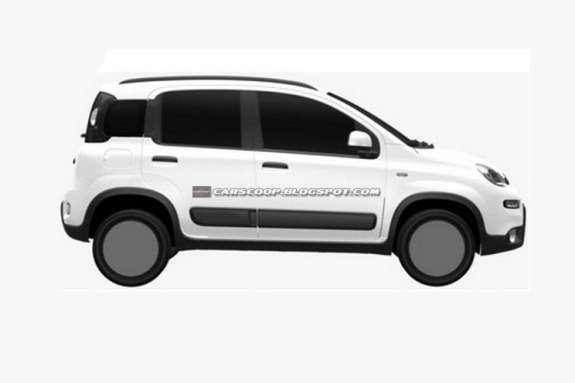 Fiat Panda 4x4 side view
