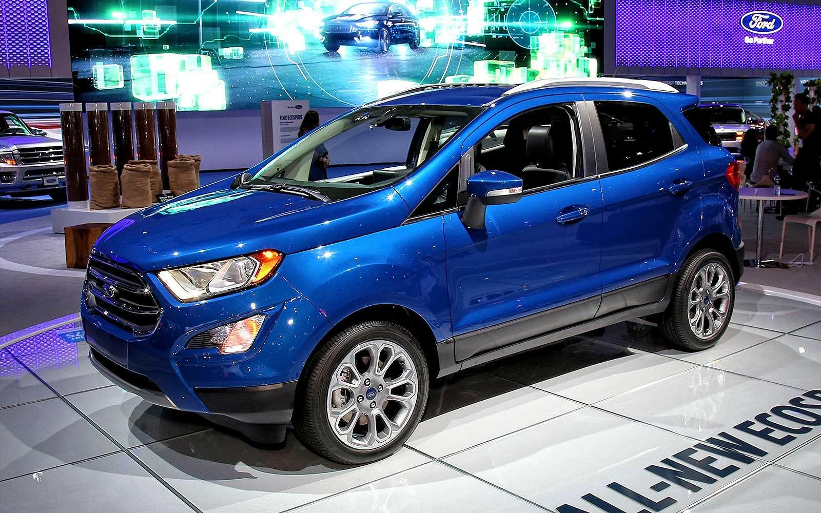 Обновленному паркетнику Ford EcoSport прикрутили планшет— фото 665275