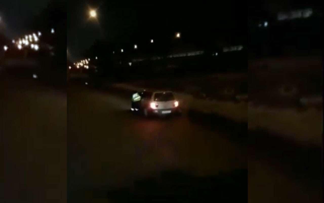 Инспектора протащили по дороге, зажав руку в окне