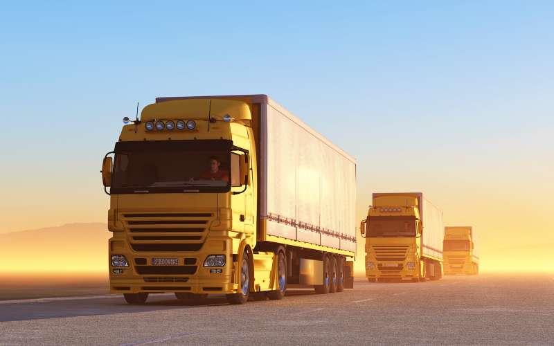 Truck onroad atsunrise