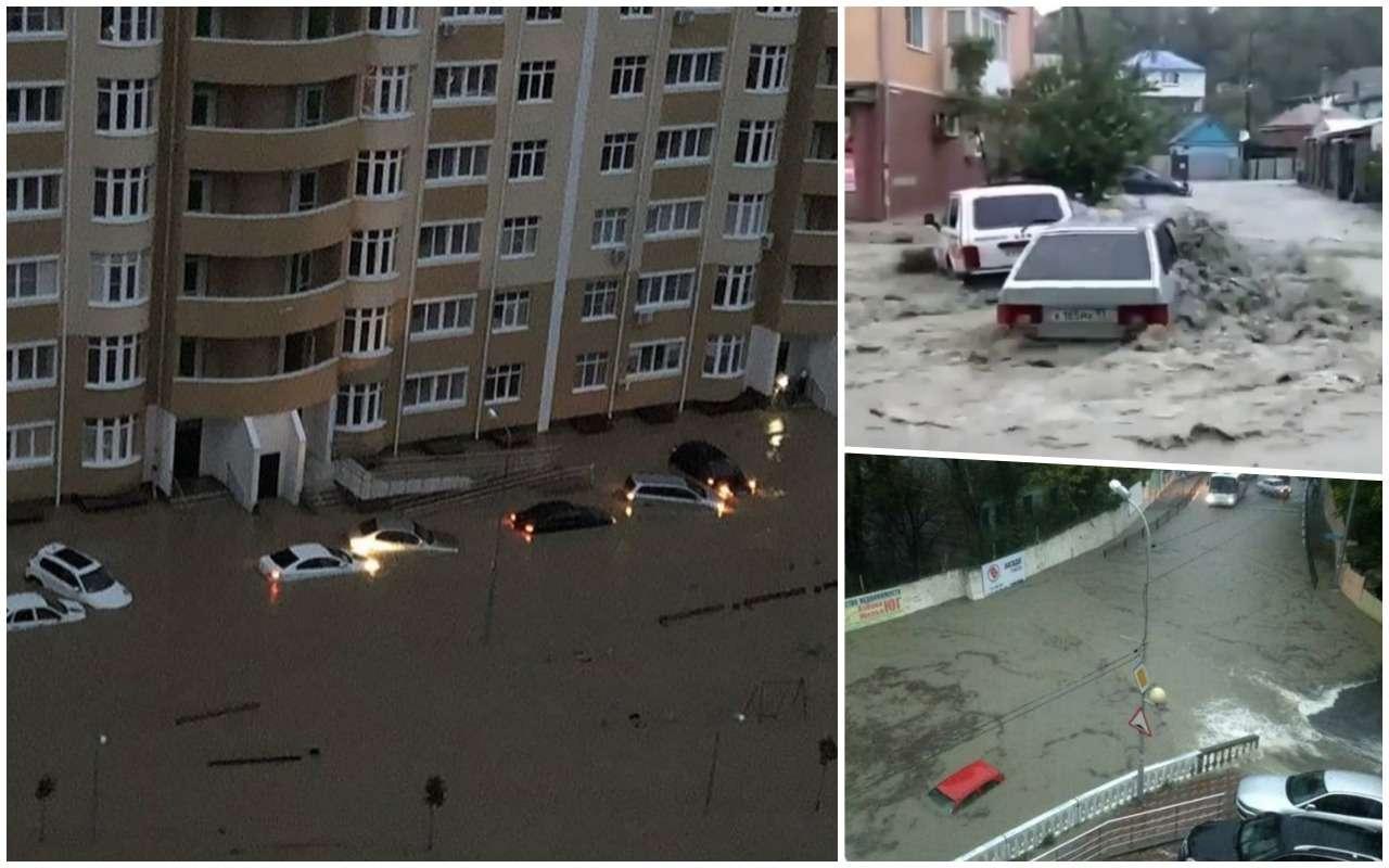 Стихия наКубани: потоки воды сносят дороги, мосты иавтомобили— фото 917345