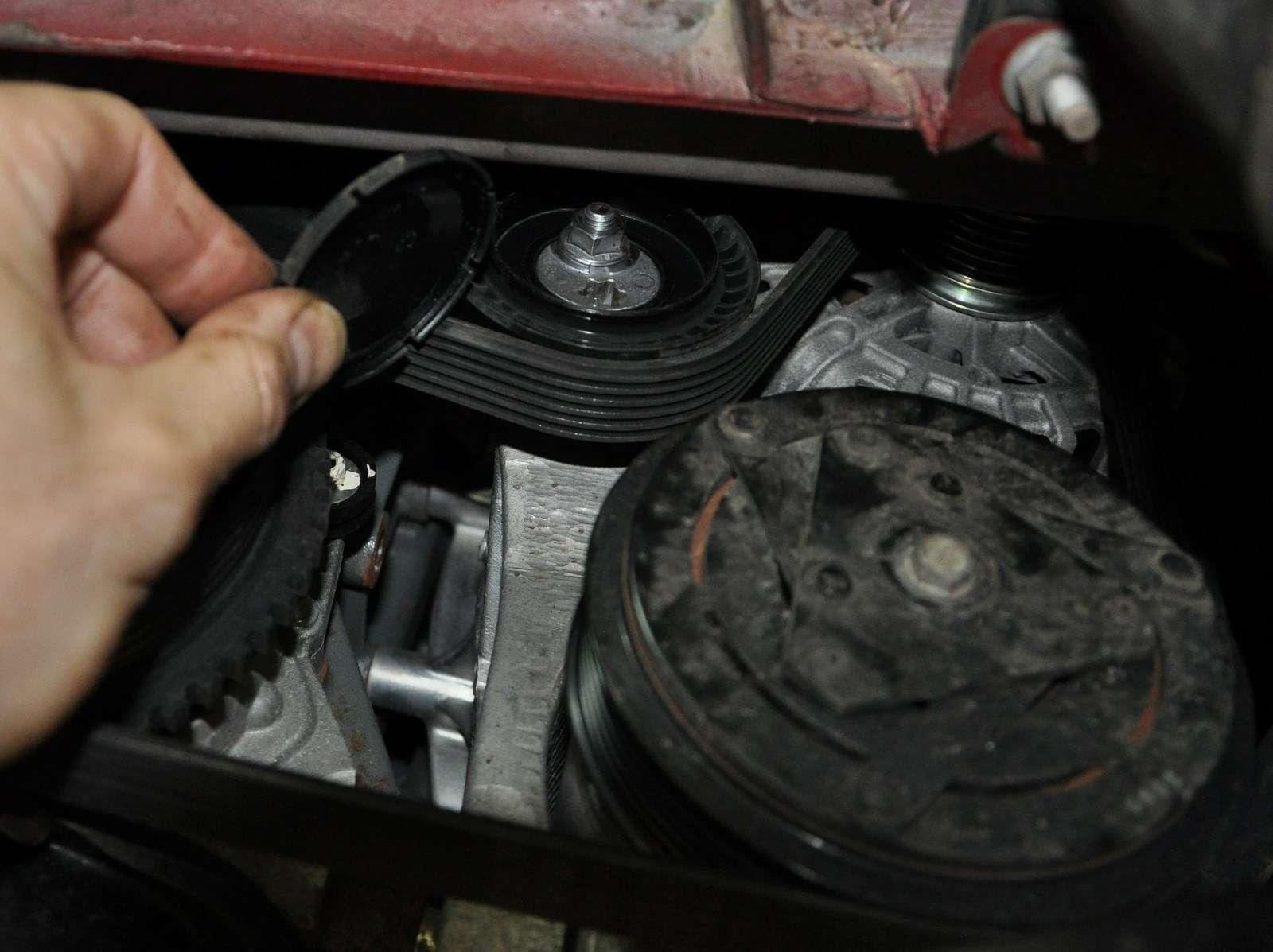 Lada Vesta: проверка изамена ремня привода вспомогательных агрегатов— фото 568596