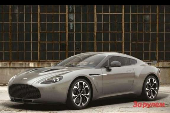 Aston martin V12 Zagato side-front view