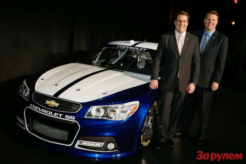 Chevrolet SS NASCAR Sprint Cup car side-front view