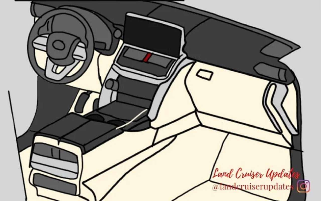 Land Cruiser 300: первые изображения интерьера— фото 1239385