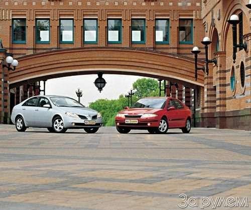 Тест Nissan Primera, Renault Laguna. Пробы нафотогеничность.— фото 29403