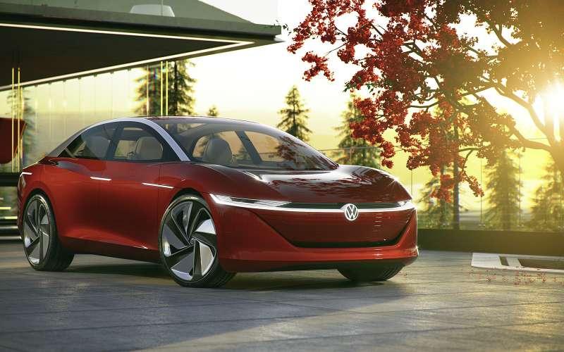 VW представил электрокар I. D. Vizzion без руля ипедалей