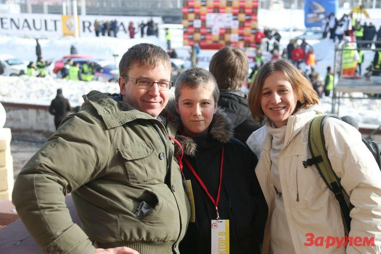 Сергей Смирнов (журнал «Зарулем») иМария Бойко. Гонка Звезд «Зарулем»-2013