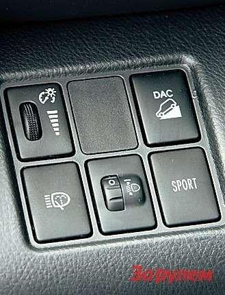 На«Тойоте» можно изменить настройки вариатора, нажав кнопку «Спорт».