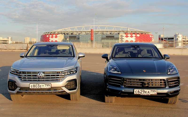 VWTouareg против Porsche Cayenne: все нормально или супергут