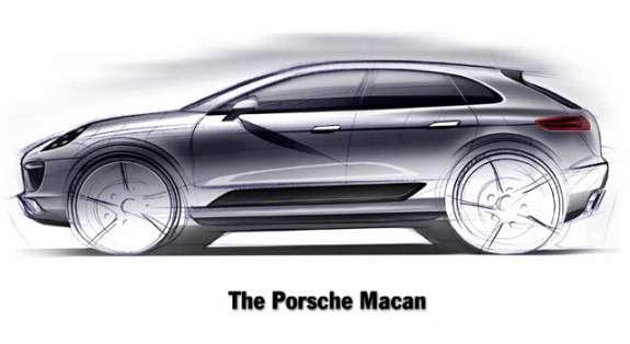 Porsche Macan sketch side view
