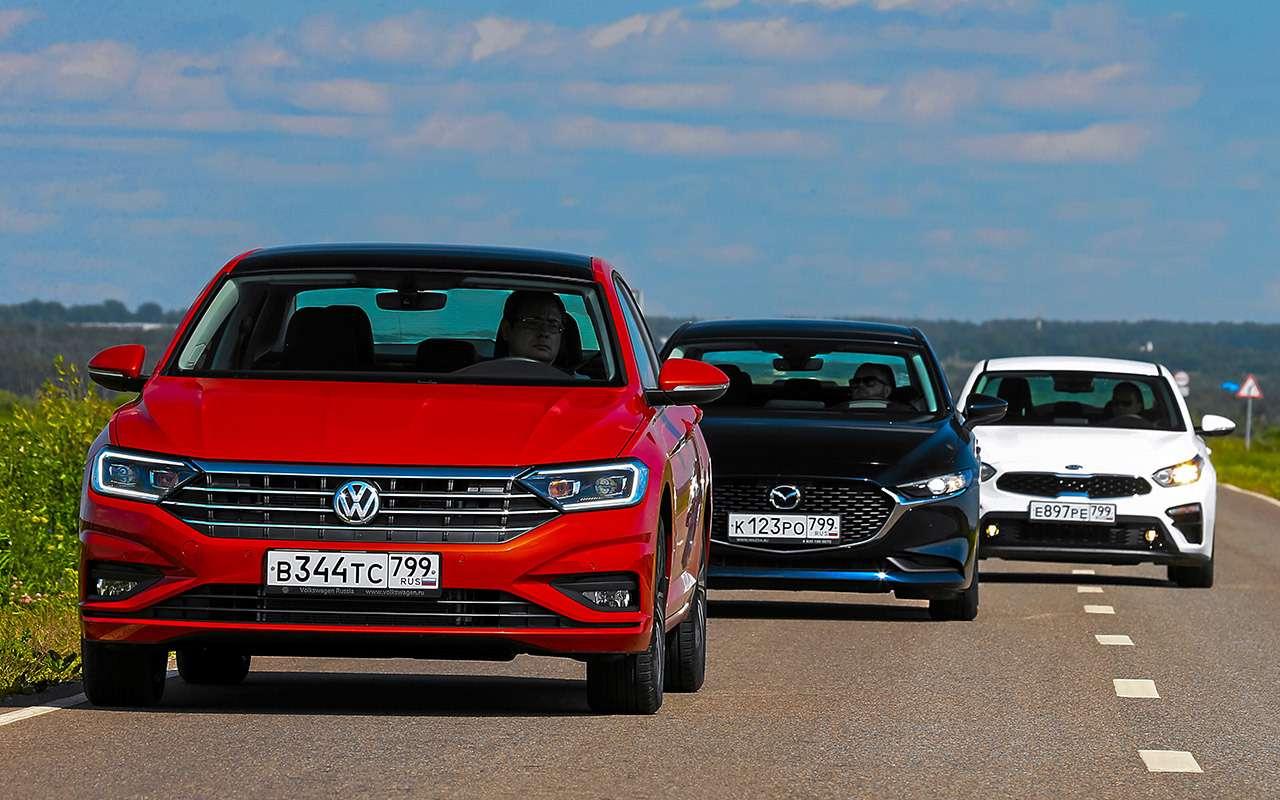 VWJetta, Kia Cerato, Mazda 3— тест-сравнение— фото 1156424