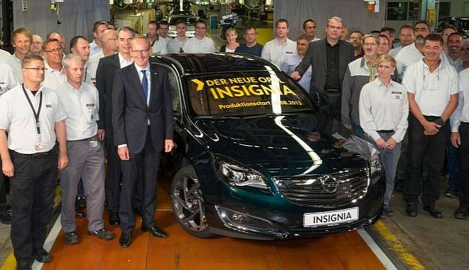 no copyright russelsheim plant starts production of opel insignia