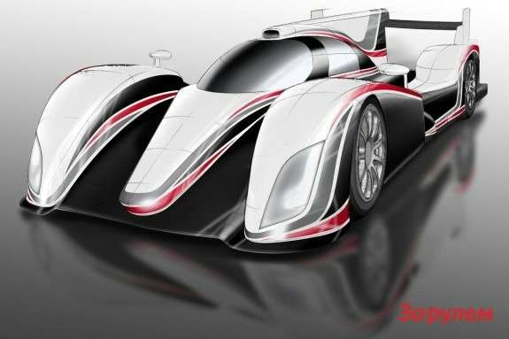 NewToyota LMP1 sketch side-front view