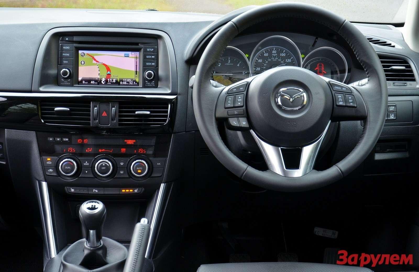 Рабочее место водителя Mazda CX-5 diesel