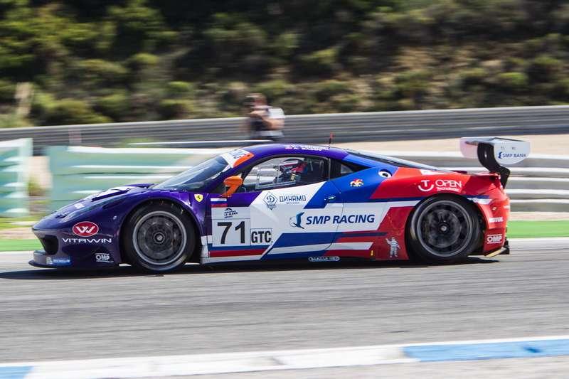 Kirill Ladygin (RUS)/ Aleksey Basov (RUS)/ Luca Persiani (ITA) drivers ofcar #71SMP RACING  (RUS) Ferrari F458 Italia GT3 Race atCircuito Estoril— Cascais— Portugal