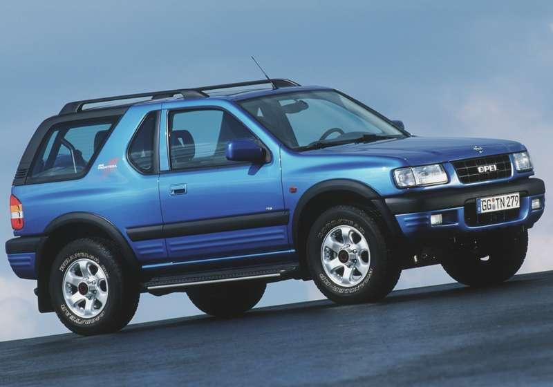 Первый SUV в истории Opel - Frontera, 1991 г. Для европейского рынка эту модель выпускали на заводе Bedford в английском городе Лутоне.