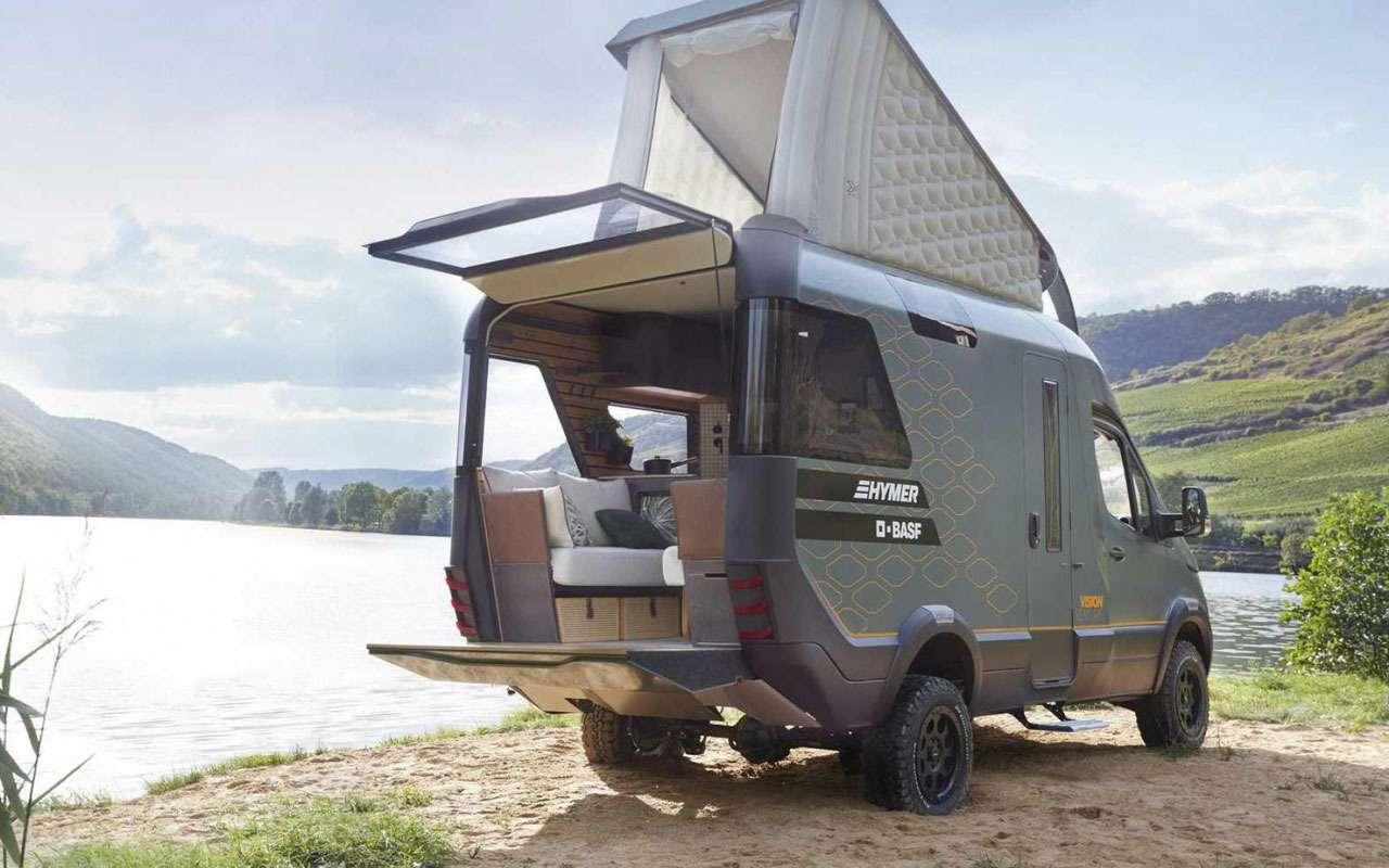 Кровать подкрышей ипанорамные окна— вот автодом будущего— фото 995105