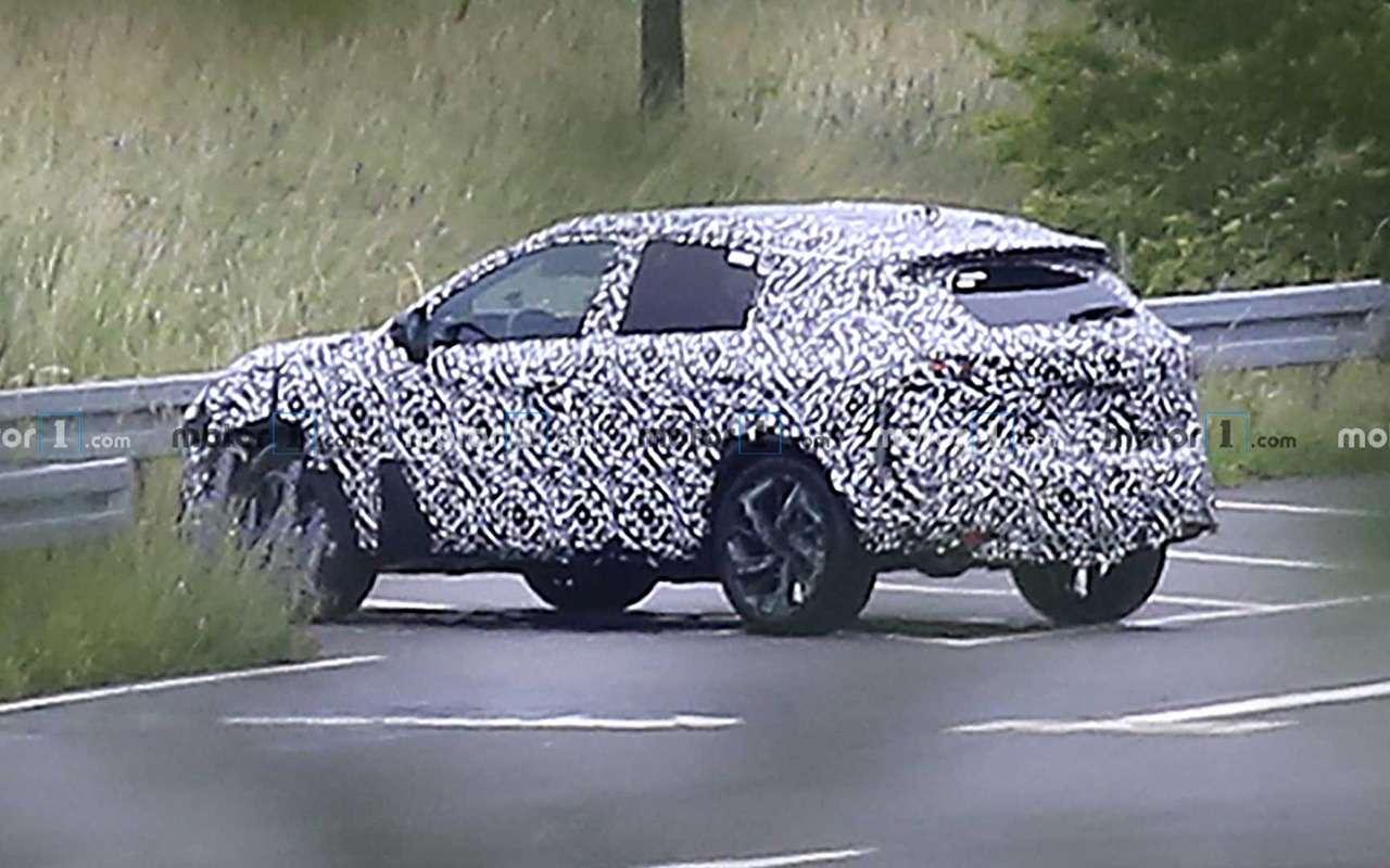 Новый Nissan Qashqai: шпионская съемка натестовом треке— фото 1139658