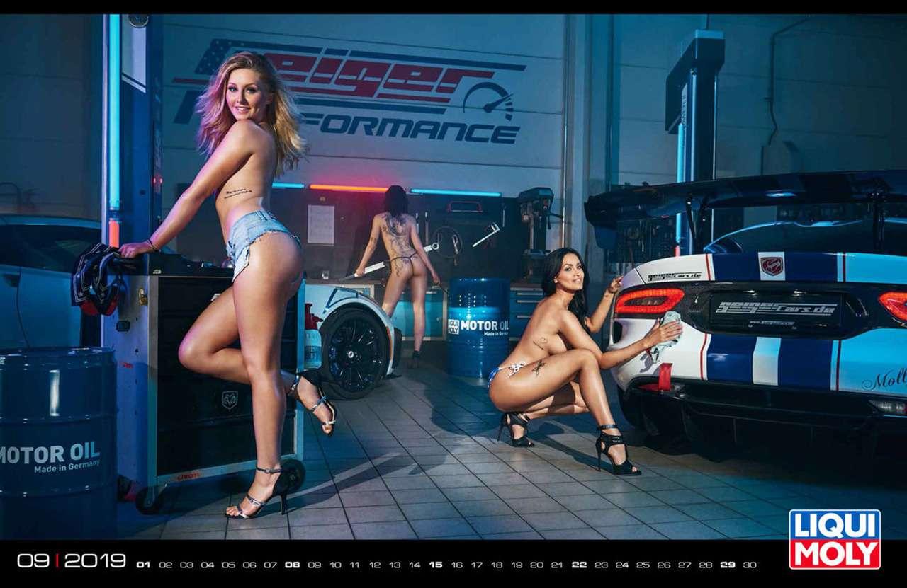 Девушки игорячие спорткары: Liqui Moly показала новый календарь— фото 904953