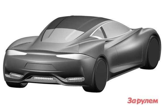 Infiniti Emerg-E sketch side-rear view